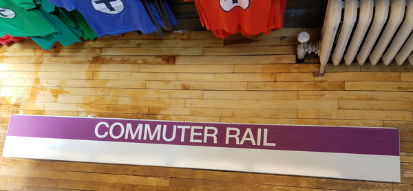 Commuter Rail Sign from Quincy Center Station