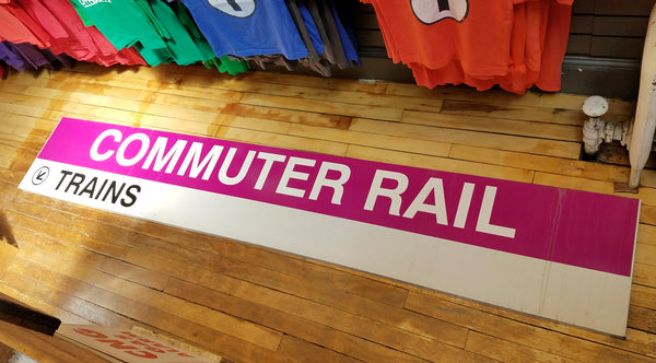 "Commuter Rail ""Trains"" Sign from Quincy Center Station"