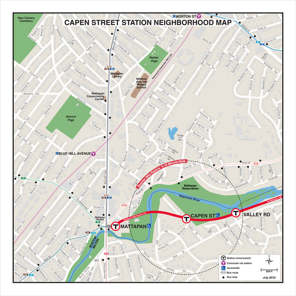 Capen Street Station Neighborhood Map (Jul. 2012)