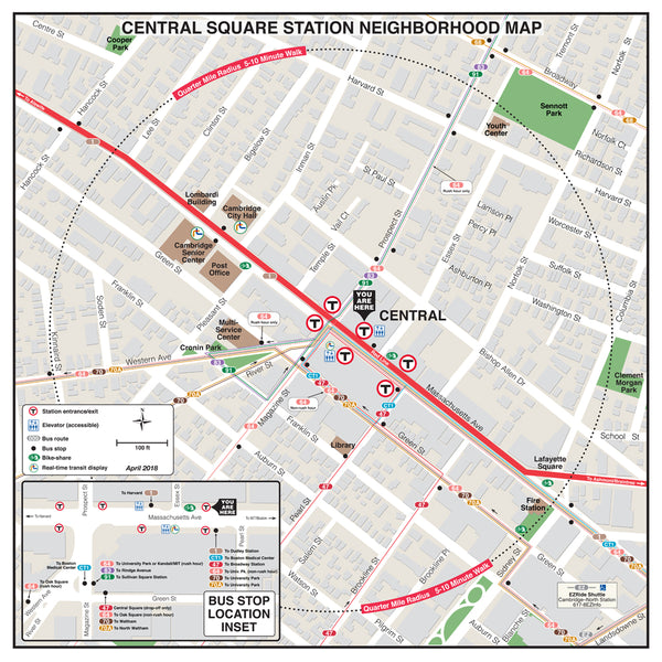 Central Square Station Neighborhood Map (April 2018)