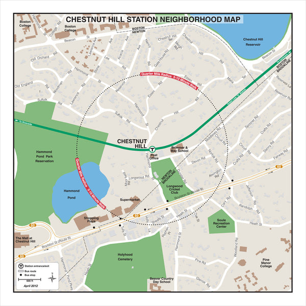 Chestnut Hill Station Neighborhood Map (Apr. 2012)
