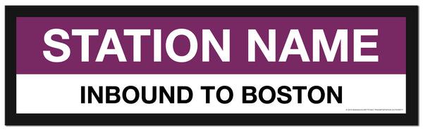 Choose a SOUTH STATION COMMUTER RAIL Framed MBTA Station Sign (2 ft long)