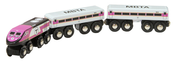 MBTA Commuter Rail Wooden Toy Train