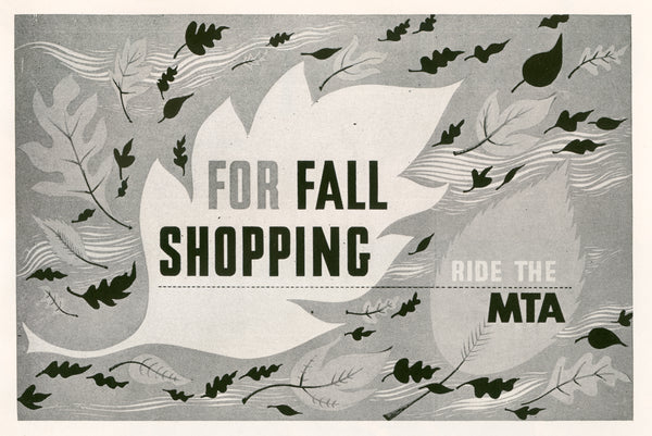 For Fall Shopping Ride the MTA