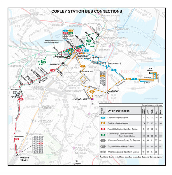 Copley Station Bus Connections (Apr. 2012)