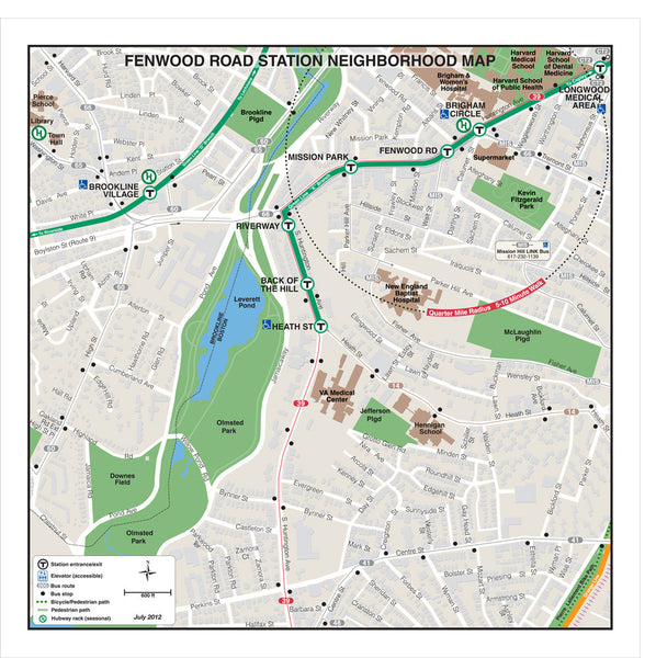 Fenwood Rd Station Neighborhood Map (Jul. 2012)