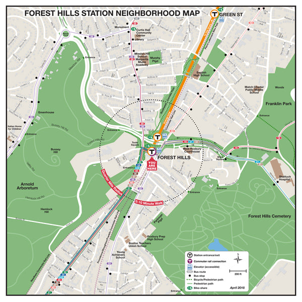 Forest Hills Station Neighborhood Map (April 2018)