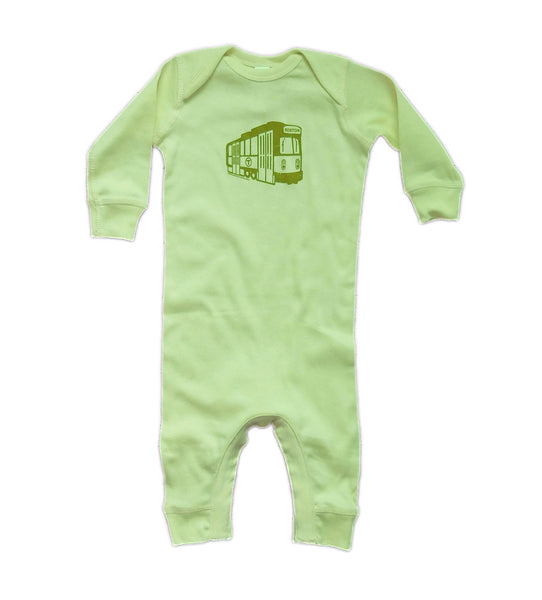 MBTA Green Line Light Green Onesie Coverall
