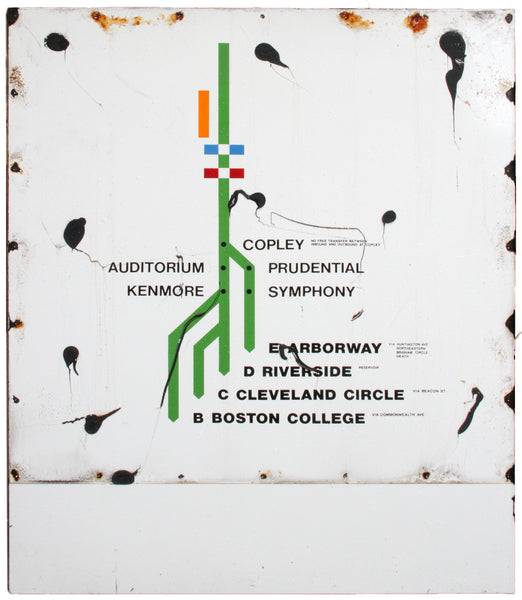 Copley Green Line Outbound Map