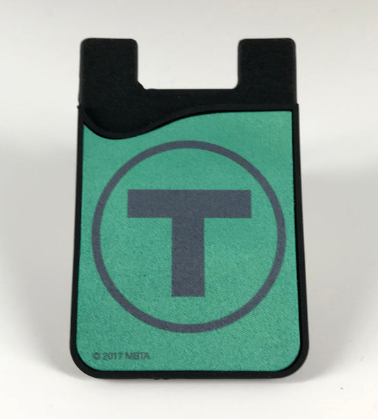 Green Line Silicone Card Caddy Phone Wallet