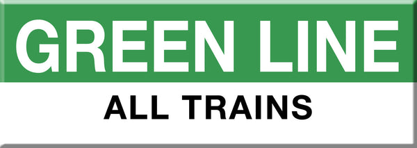 MBTA Green Line All Trains Station Magnet