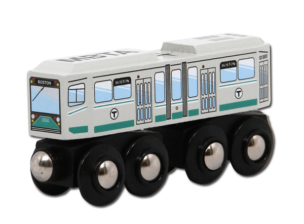 MBTA Green Line Wooden Toy Train