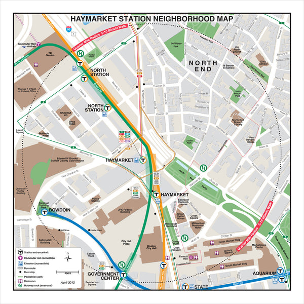 Haymarket Station Neighborhood Map (Apr. 2012)