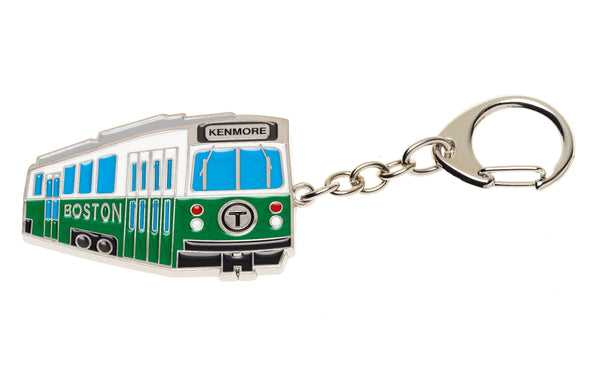 MBTA Green Line Trolley Key Chain