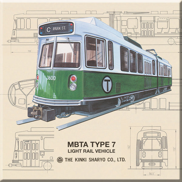 MBTA Type 7 Green Line Trolley Magnet