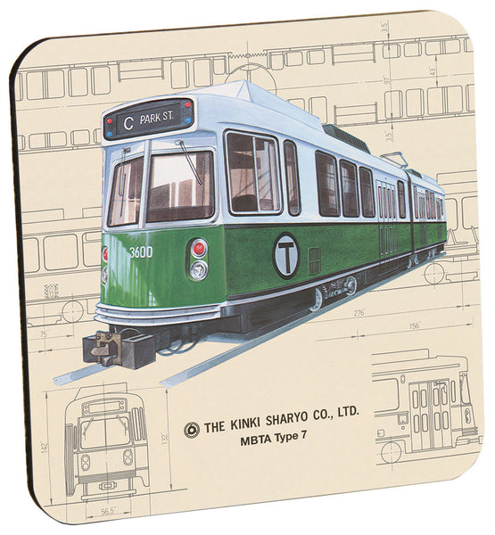 MBTA Type 7 Green Line Trolley Coaster
