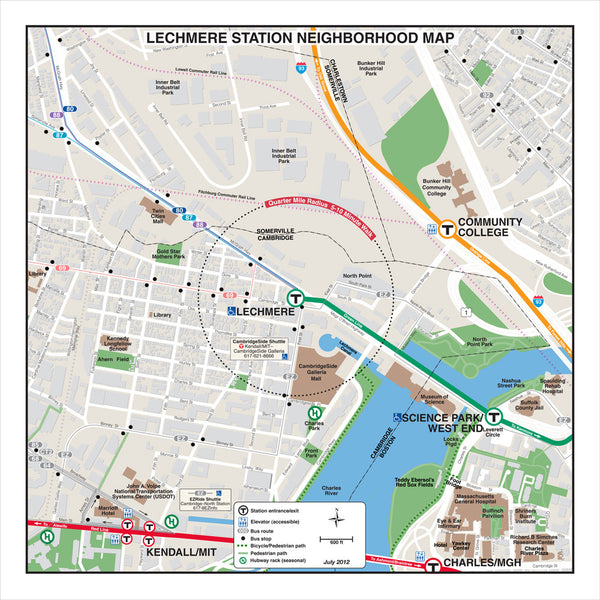 Lechmere Station Neighborhood Map (Jul. 2012)