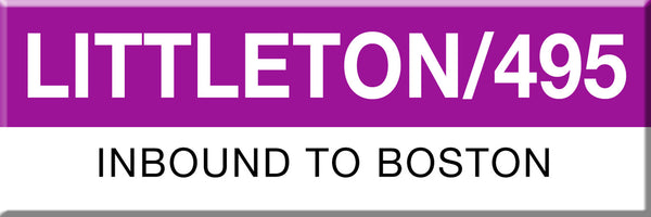 MBTA Commuter Rail Littleton / 495 Station Magnet