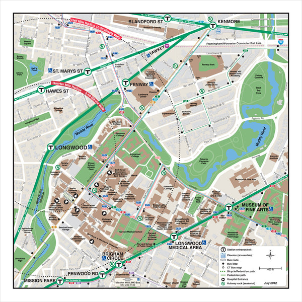 Longwood Station Neighborhood Map (Jul. 2012)