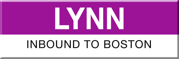 MBTA Commuter Rail Lynn Station Magnet