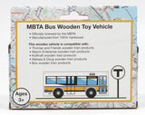 MBTA Wooden Toy Bus - Works with MBTA Toy Trains!