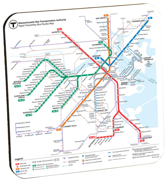 MBTA Rapid Transit Map Coaster