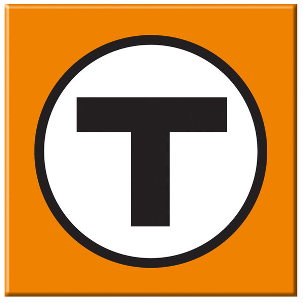 "MBTA ""T"" Logo Orange Magnet"
