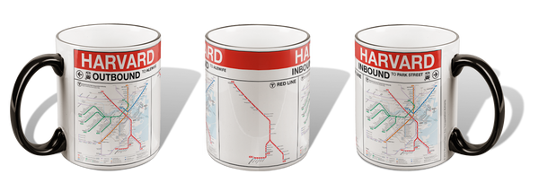 Harvard Red Line Station Mug