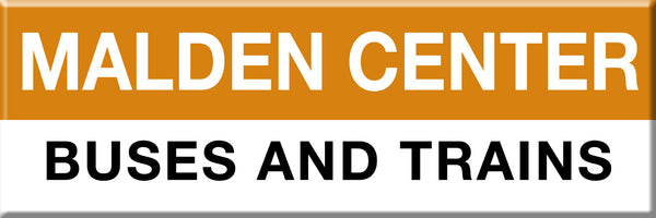 MBTA Orange Line Malden Center Station Magnet