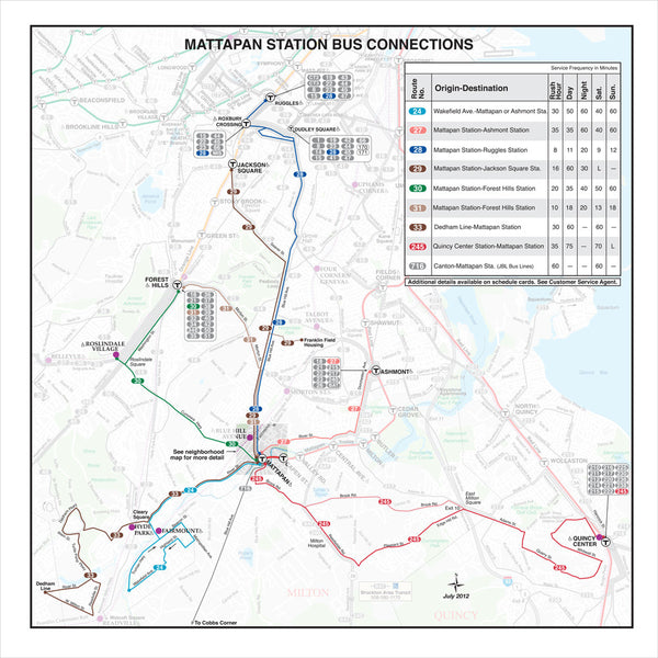 Mattapan Station Bus Connections (Jul 2012)