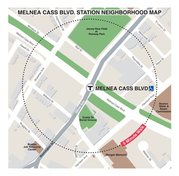 Melnea Cass Blvd. Station Neighborhood Map