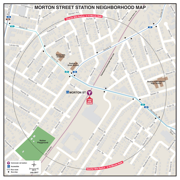 Morton Street Station Neighborhood Map (July 2017)