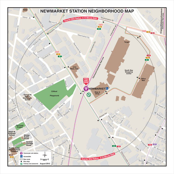 Newmarket Station Neighborhood Map (Aug. 2013)