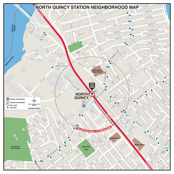 North Quincy Station Neighborhood Map (October 2018)