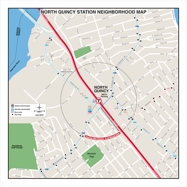 North Quincy Station Neighborhood Map (Jul.2012)