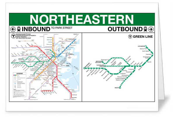 Northeastern Station Greeting Card