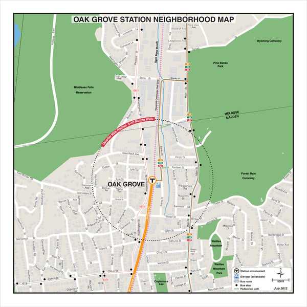 Oak Grove Station Neighborhood Map (Jul. 2012)