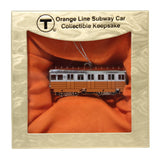 MBTA Orange Line Subway Car Ornament
