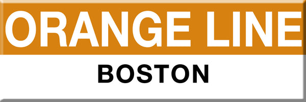 MBTA Orange Line Boston Station Magnet
