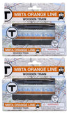 MBTA Orange Line Wooden Toy Train PAIR