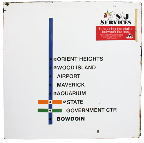 Orient Heights Blue Line Inbound Station Sign/Map