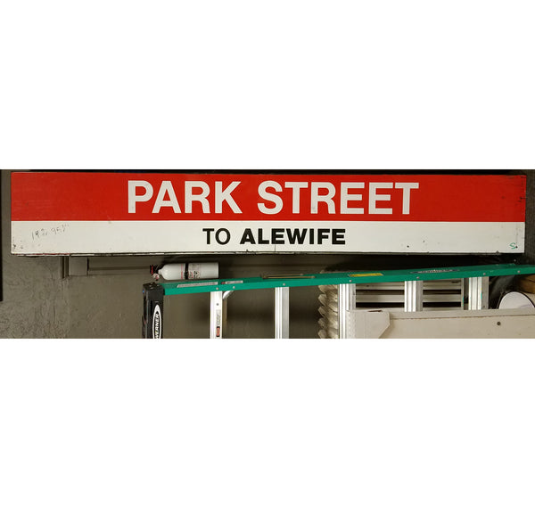 "Park Street Station: Red Line ""To Alewife"" 8'x1'  Ribbon Sign"