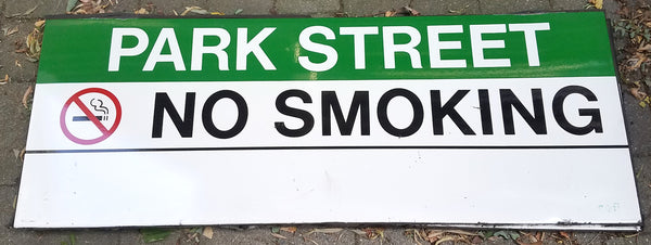 "Green Line ""Park Street; No Smoking"" Sign from Park Street Station"