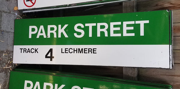 "Green Line ""Track 4 Lechmere"" Sign from Park Street Station"
