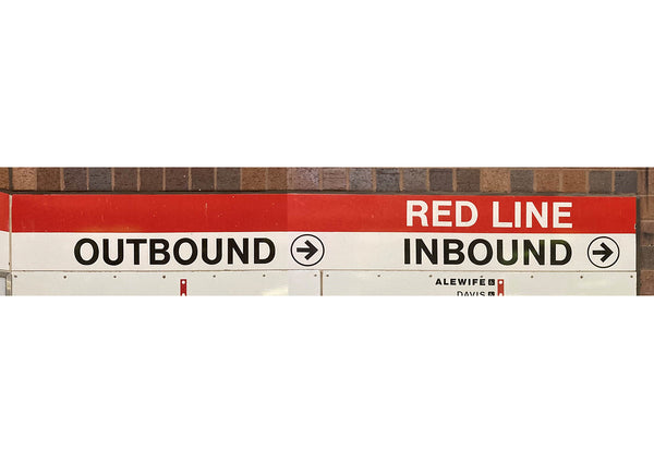 Quincy Adams Station: Red Line Outbound Inbound 8' Ribbon Sign