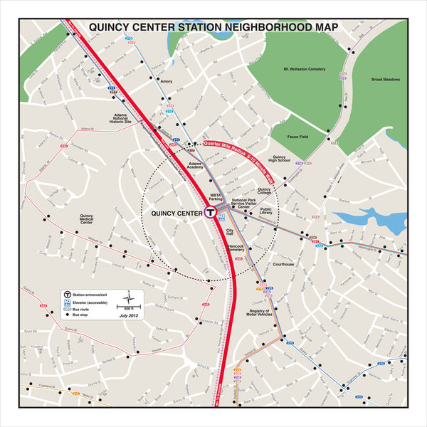 Quincy Center Station Neighborhood Map (Dec. 2012)