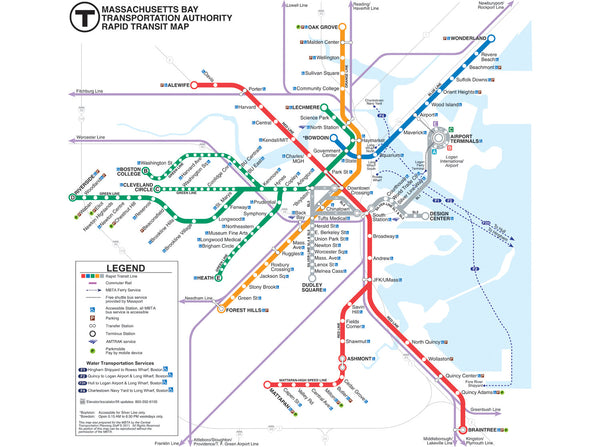 2011 MBTA Transit Map w/Commuter Rail