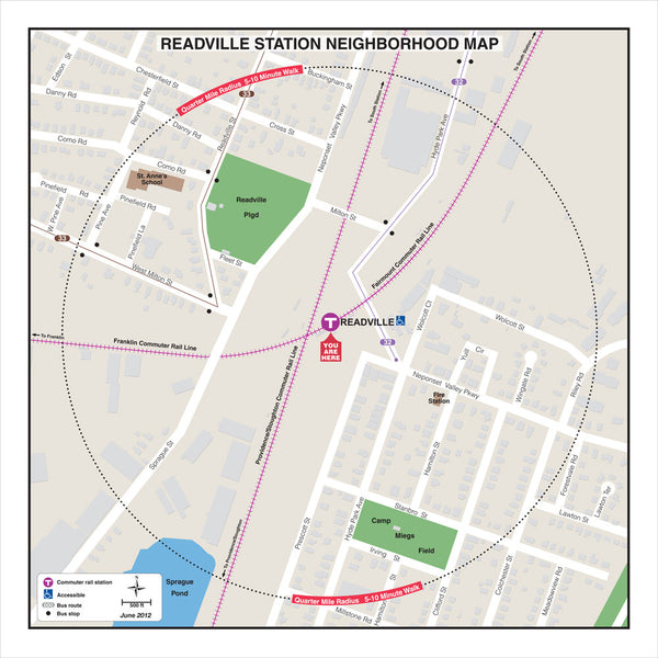 Readville Station Neighborhood Map (Jun. 2012)