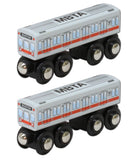 MBTA Red Line Wooden Toy Train PAIR