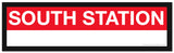 Choose a RED LINE Station Framed MBTA Station Sign (2 ft long)